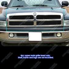 Fits 1994-2001 Dodge Ram Black Main Upper Billet Grille Grill Insert