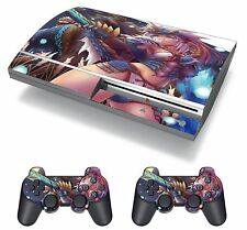 Monster Hunter Game Zinogre Anime Girl Skin Sticker Decal Protector PS3 FAT