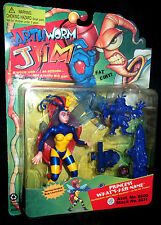EARTHWORM JIM  1994 Playmates MOC Figure Princess What's Her Name  SEALED 100%