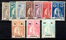 ANGOLA 1923 219,224-226 etc * Gute 10 WERTE  250€++ (09805