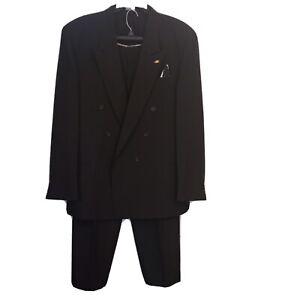 Men's 2pc. Black Suit And Pants Set Size 48 Long Blazer And Size 40 Pants