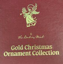 1988 Danbury Mint 23K Gold Christmas Ornaments Complete Set 12 in Original Box