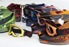 Childrens Kids MOTOCROSS style MX HELMET & GOGGLES Off Road BMX Dirt Bike