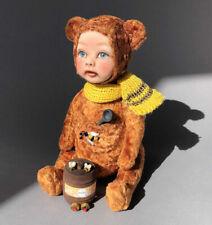Doll OOAK Michael teddy bear handmade Russian master Feechkadolls Art Dolls