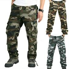 Mens Military Combat Trousers Camouflage Cargo Camo Army Comfy Work Long Pants