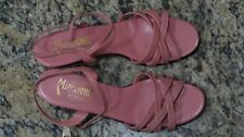 Vintage Miramonte Pink Leather Strappy Sandals size 9.5S Made in Italy