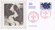 Enveloppe 1er jour Soie 2009 - Croix Rouge La bataille de Solférino Braque