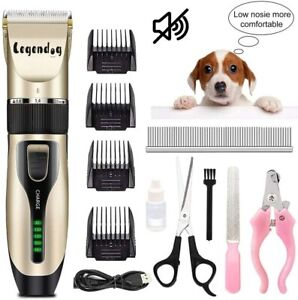 Dog Grooming Clippers Scissors Comb,Low Noise Hair Clippers,Professional Cordles