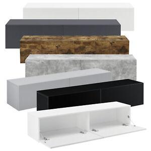 [en.casa] Lowboard Hängeboard mit Schranktüren Fernsehtisch TV Kommode Ablage