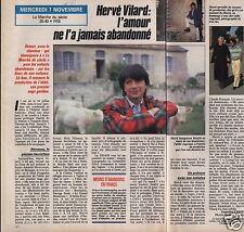 Coupure de presse Clipping 1990 Hervé Vilard  (1 page 1/2)
