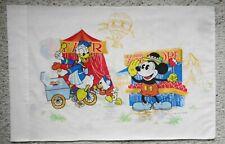 Vintage pillowcase Walt Disney Donald Duck Mickey Minnie Goofy Carnival Balloons