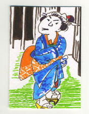 Original signed ACEO by Lucy Smith.  'Goyu #1 (after Hiroshige)' Japan