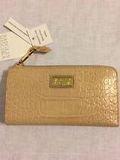 NWT BADGLEY MISCHKA Croco Leather Zip Wallet Clutch Sandstorm. Great Gift!
