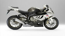 "White BMW S1000RR Motorcycle - 42"" x 24"" LARGE WALL POSTER PRINT NEW."