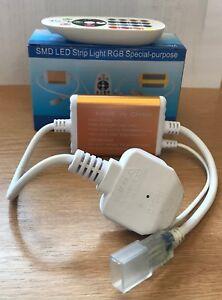 IP44 RGB Power Controller for a 220V  LED Strip + IR Remote Control