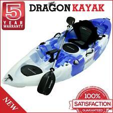 New Dragon Kayak Pro Fisher Single Seater Best Fishing Kayak - Blue White