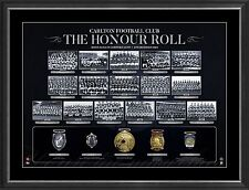 Carlton Blues AFL Honour Roll with Medallions Print Framed PREMIERS - SILVAGNI