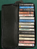 Lot Of Cassette Tapes Lots Of Great Artist With Case 15 Total
