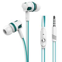 Kopfhörer InEar Ohrhörer Mikrofon Headset Iphone Apple Samsung Bass Klang türkis
