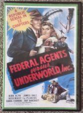 FEDERAL AGENTS vs UNDERWORLD INC. 12 episode Cliffhanger serial on 2 dvd disks