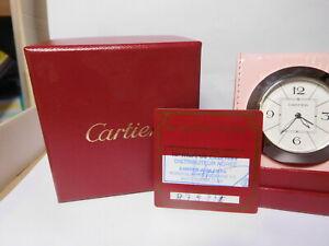 Original Cartier Tischuhr. Reisewecker inkl. Box + Papiere.Top Zustand wie neu.