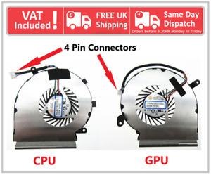 MSI GE62VR GP62VR GP62MVR CPU & GPU Cooling Fan Pair Set 4 Pin PAAD06015SL