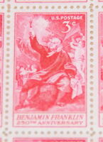 1956 sheet, Benjamin Franklin, Sc# 1073