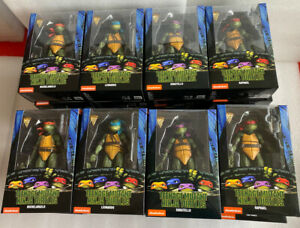 "NECA TMNT Teenage Mutant Ninja Turtles 1990 MOVIE 7"" Action Figures Set Of 4 Hot"