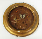 Antique 19th Century Taxidermy Butterfly Display- Rare Victorian Oval Diorama