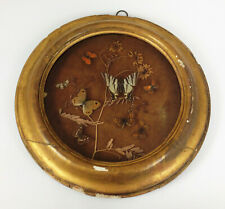 More details for antique 19th century taxidermy butterfly display- rare victorian oval diorama