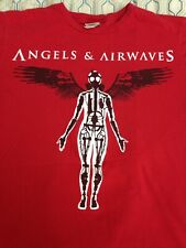 RARE Vintage Angels and Airwaves Band T Shirt Robot Angel Wings Red Small