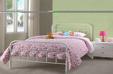 New Premier Hospital Style 4ft6 Double White Metal Bed Frame Special Offer