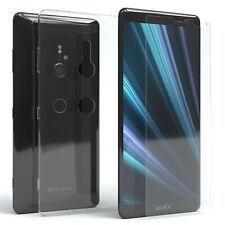 EAZY CASE Sony Xperia XZ3 Hülle Silikon Handy Schutzhülle + Schutzglas Folie 9H