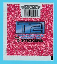 BUBBLE  GUM  WRAPPER  -  TOPPS  U.S.A. -  TERMINATOR  2  JUDGMENT  DAY  -  1991
