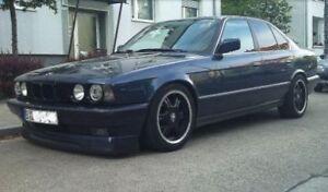 For BMW E34 5-Series Front Big Bumper Chin Spoiler Lip  Valance Splitter ABS