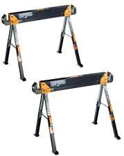 NEW 2-Pack Toughbuilt Steel SawHorse Adjustable Portable Folding Pair Heavy-Duty