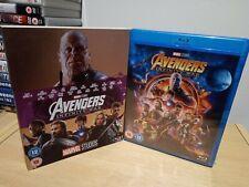Avengers Infinity War Blu Ray UK Release w/ 10th Anniversary Slip Cover NEW