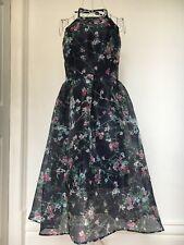 Blue Floral 1950's Dress Size 12 M&S RRP £59