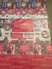 12 Sheets of Christmas Gift Wrap Xmas Wrapping paper, Christmas Paper