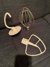 Kitchen Aid Stand Mixer Attachment Parts Whisk & Dough & Hook Lot of (3)