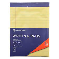 Members Mark Legal Writing Pad - Perforated Canary 50 Sheets Per Pad 15-Pack