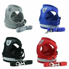 More details for no-pull reflective dog harness leash pet mesh vest leads set small medium puppy