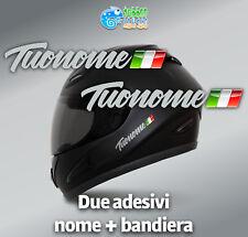 Adesivi Nome e Bandiera casco bici bike moto kart flag sticker grigio chiaro