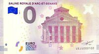 BILLET 0  EURO  SALINE ROYALE D'ARC ET SENANS FRANCE  2018  NUMERO 100