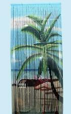 Beach Tree Beaded Bamboo Curtains Decor Panel Drape Window Dividers Wall Arts