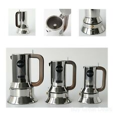 New Alessi 9090/3 Stove Top Espresso 3 Cup Coffee Maker In 18/10 Stainless Steel