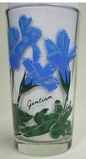 Gentian Peanut Butter Glass Glasses Drinking Kitchen Mauzy 59-1