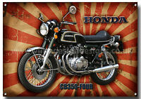 HONDA CB 350 FOUR  MOTORCYCLE METAL SIGN,GARAGE SIGN,JAPANESE VINTAGE MOTORCYCLE