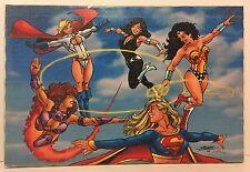 Silkscreen Print On Canvas Super-heroines Wonder Woman By George Perez
