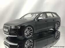GT Spirit Audi RS4 B8 Avant 4 Door Wagon Black Resin Model Car 1:18